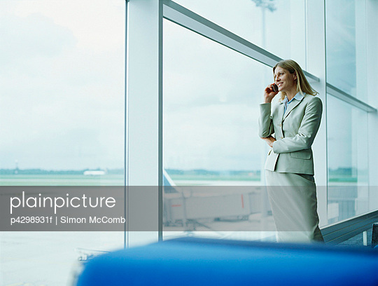 Businesswomen using mobile