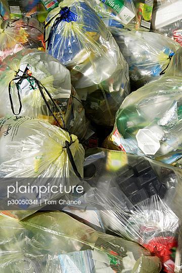 Garbage, rubbish bags, close up
