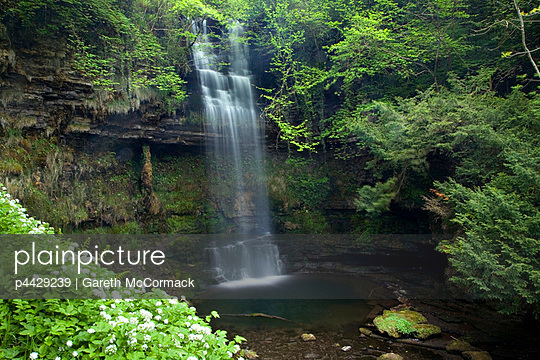 Glencar Waterfall, Co Sligo, Ireland; W.B. Yeats made this waterfall famous in his poem \