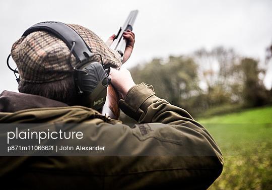 Gun on a shoot in Wiltshire, England, United Kingdom, Europe