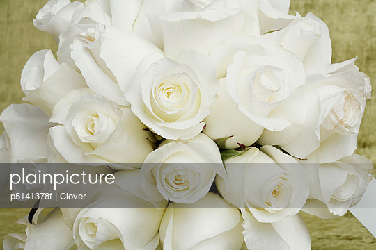 Bunch of white roses (close-up)