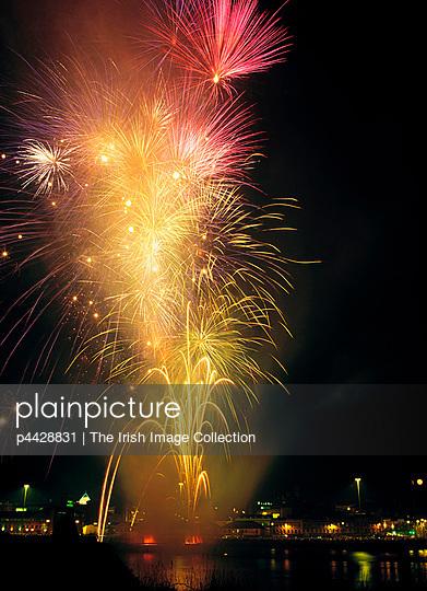 Derry, Co Derry, Ireland; Display of fireworks