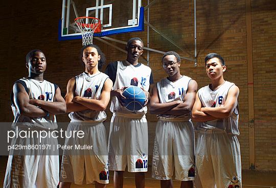 Portrait of basketball team