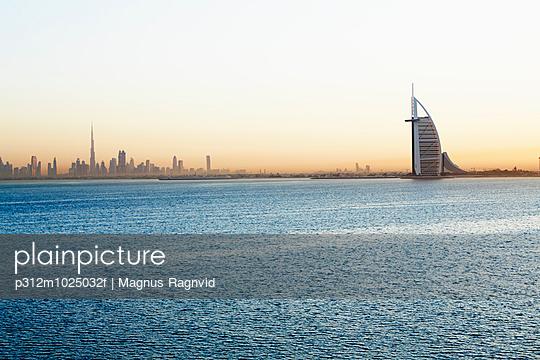 Burj al Arab at sunset