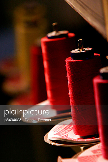 Spools of thread at a textile factory near Medellin