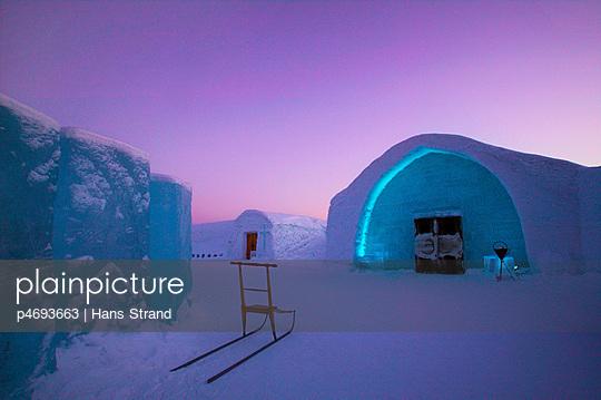 The ice hotel in Jukkasjarvi
