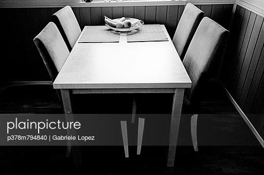 Empty kitchen table