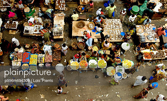 View Of The Central Market In Abidjan