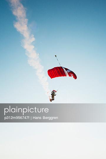 Skydiver in air