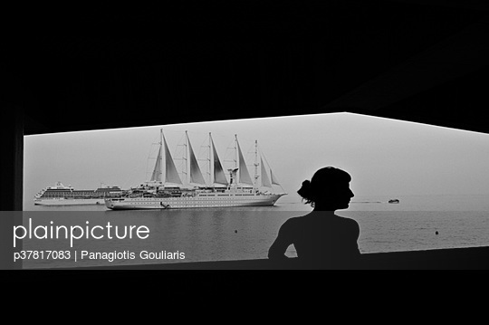 Silhouette and ships