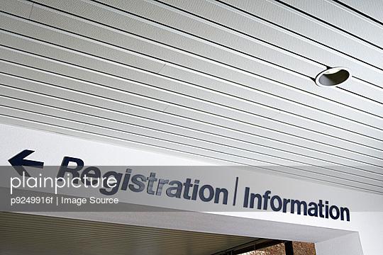 Registration and information sign