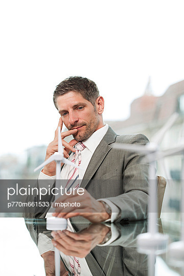 Portrait of a man in a bureau