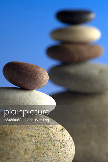 Close up of stack of pebbles