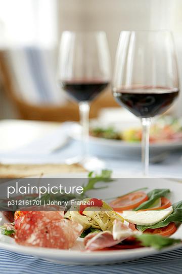 Italian food on a plate.