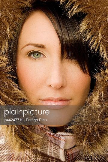 Woman in winter jacket