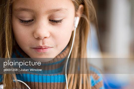 Young girl with earphones