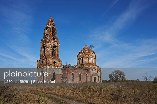 Ruine einer russischen orthodoxen Kirche in Russland - p390m1159291 von Frank Herfort