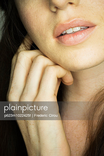 Woman\'s mouth, close-up