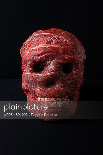 Skull Made Out Of Meat