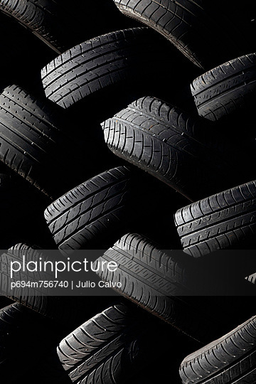 Pile of Tires, Close-up
