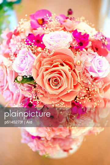 Pink flower bouquet, close up