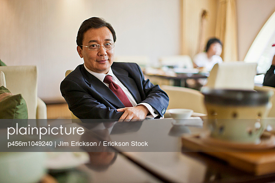 Portrait of a relaxed mature businessman