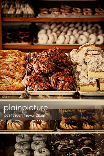Bakery With Display of Donuts and Pastries