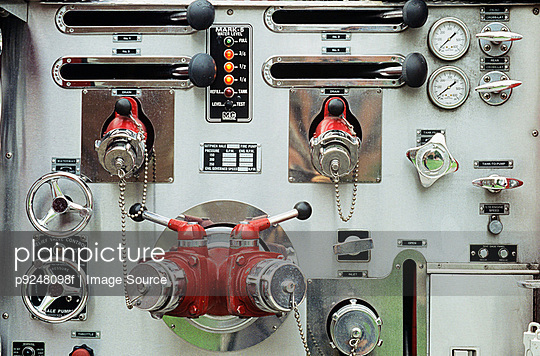Close up of a control panel
