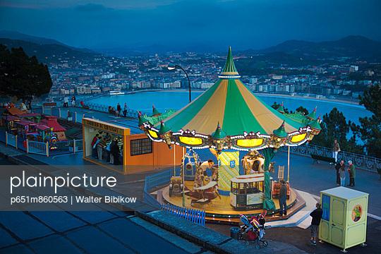 Spain, Basque Country Region, Guipuzcoa Province, San Sebastian, Monte Igueldo amusement park