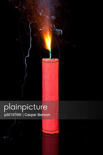A lit firecracker