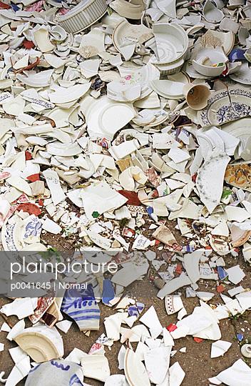 Pile of porcelain shard