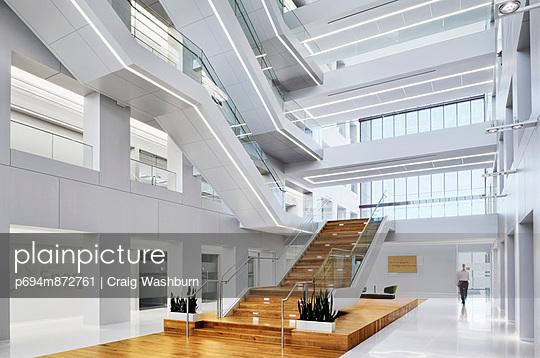 Modern Office Lobby and Atrium