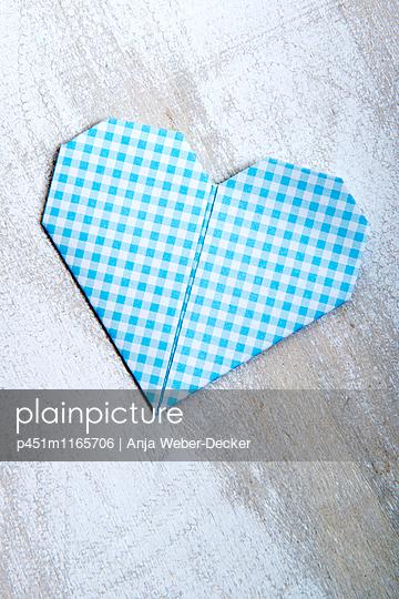 Papierherz - p451m1165706 von Anja Weber-Decker