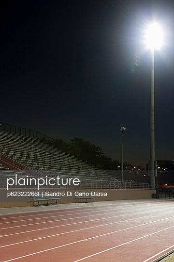 Running track at night