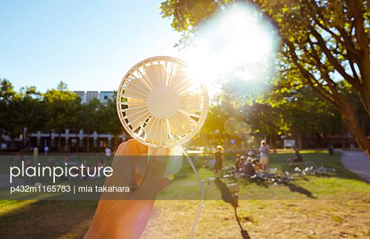 Ventilator im Park - p432m1165783 von mia takahara