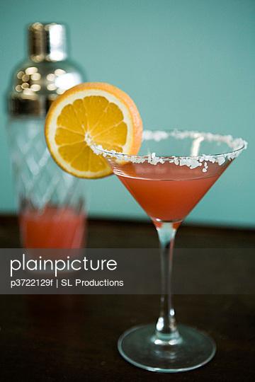 Martini glass and shaker