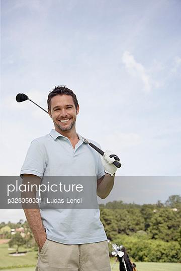 Man holding golf club