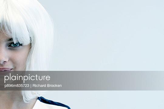 Portrait of ash-blonde woman