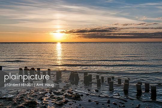 Wattenmeer im Sonnenaufgang, Keitum, Sylt, Schleswig-Holstein, Deutschland - p1316m1161001 von Arnt Haug