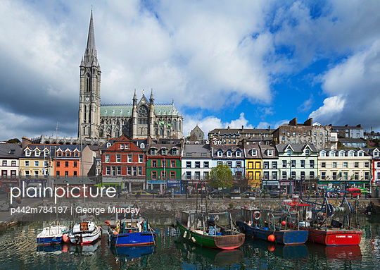 St Coleman\'s Cathedral From The Harbour; Cobh, County Cork, Ireland