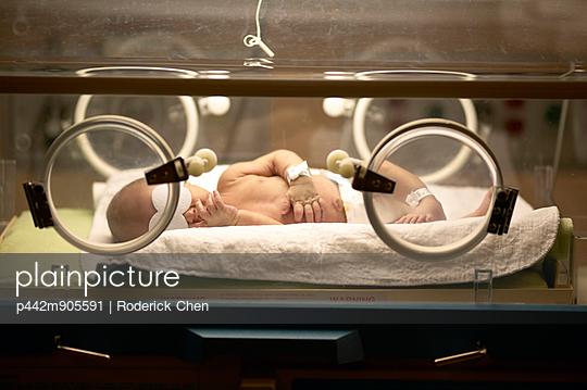 Newborn Baby In Hospital With Jaundice