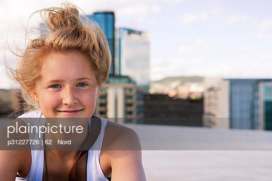 Portrait of blond teenage girl