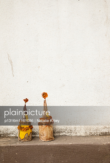 Palmenblätter-Hütte, Luang Prabang, Laos - p1316m1161086 von Natalie Kriwy