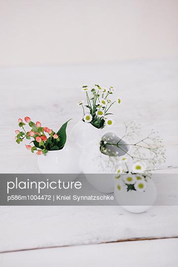 Flowers in various vases