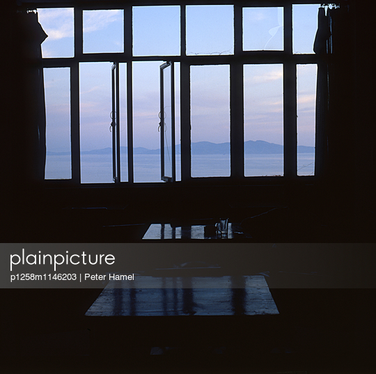 Blick von Tinos nach Syros - p1258m1146203 von Peter Hamel