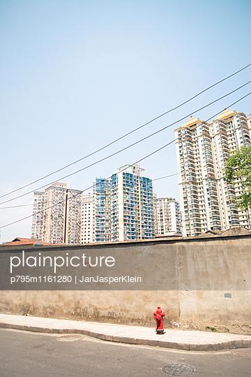 Wohnblocks in Shanghai - p795m1161280 von Janklein