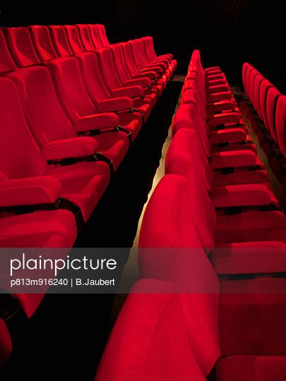 Row of seats of cinema