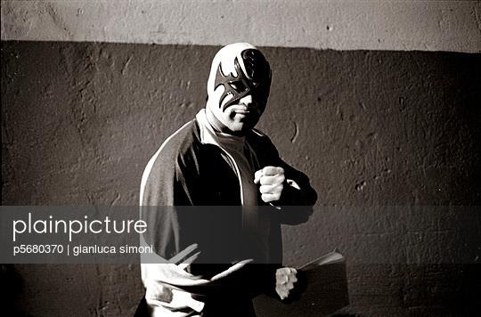 wrestling, masked man