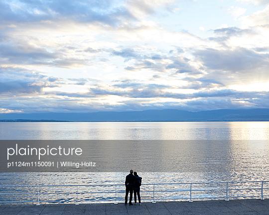 Paar am Genfer See - p1124m1150091 von Willing-Holtz