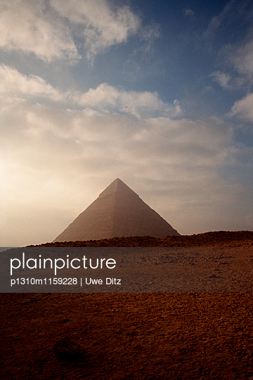 Pyramiden von Gizeh - p1310m1159228 von Uwe Ditz